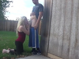 Preview 6 of back yard blowjob - OurDirtyLilSecret