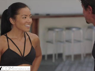 Preview 2 of TUSHY.com Young asian girl takes cum inside her asshole