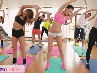 Preview 5 of FitnessRooms Full scene after sweaty group workout