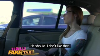 Preview 3 of FemaleFakeTaxi Horny filthy lesbians lick shaved wet pussy in taxi