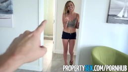 PropertySex - Landlord fucks ex-girlfriend's hot younger sister for rent