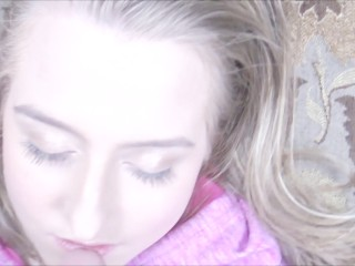 Preview 1 of Deepthroating Under The Influence - Blonde Milf Face Fuck & Facialized POV!