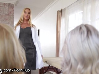 Preview 1 of StepMom and Doctor Examine Her Pussy