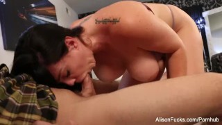 Preview 2 of Alison drains Chad's cock with her mouth