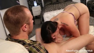 Preview 4 of Alison drains Chad's cock with her mouth