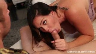 Preview 5 of Alison drains Chad's cock with her mouth