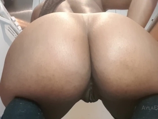Preview 2 of Ayla - Anal Dildo Ride and Butt Plug Tease