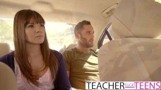 Preview 1 of Hot Teacher Tricks Students Into Threeway Fuck