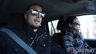 Preview 2 of New Years Road Trip Blowjob & Facial