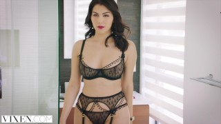 Preview 2 of VIXEN Hot Valentina Nappi seduces her married boss