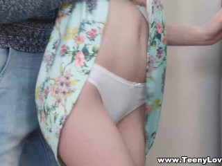 Preview 1 of Teeny Lovers - Sex helps her study geography