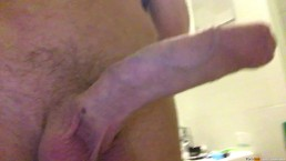Pissing with a morning erection