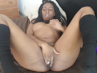 Preview 6 of Ayla - Panty Stuffing and Hitachi Cum