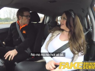 Preview 2 of Fake Driving School busty jailbird takes instructor on a wild ride!