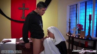 Preview 3 of Jessica Jaymes - Mick fucks Jessica and Nikki in the church