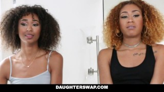 Preview 4 of DaughterSwap - Ebony Daughters Punished & Fucked For Sneaking Out