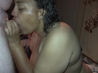 Preview 5 of BLACK BBW TEEN GIVES BEST HEAD AND HE EATS HIS OWN CUM OFF HER TITS