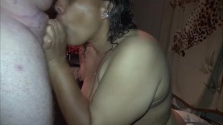 Preview 3 of BLACK BBW TEEN GIVES BEST HEAD AND HE EATS HIS OWN CUM OFF HER TITS