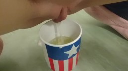 tea is ready sir! | pee in a cup