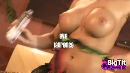 Cock Sucking Eve Laurence Plays With Her Tits