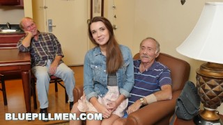 Preview 1 of BLUEPILLMEN - Introducing Old Man Duke to Teen Naomi Alice (bpm14870)