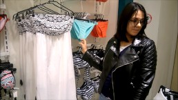 Great shopping: Blowjob and Trying on clothe in Dressing Room