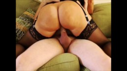 My big round ass bounces on a big cock