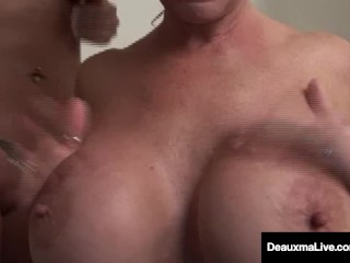 Preview 1 of Busty Milf Deauxma Has Pussy Licking Bath with Tanya Tate!