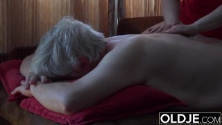 Preview 4 of Old Young Porn Grandpa Fucks Petite Teen Spits Cum After Blowjob Massage