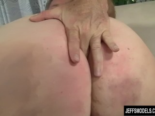 Preview 2 of Fat ass Cherie A Lunas spreads her cheeks while being fucked