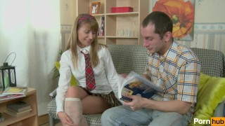 Preview 3 of Schoolgirl seduces Tutor