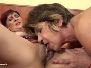 Preview 2 of Grannies Hardcore Fucked Interracial Porn with Old Women loving Black Cocks