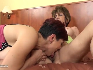 Preview 4 of Grannies Hardcore Fucked Interracial Porn with Old Women loving Black Cocks