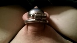 Trying out this sex toy but its kinda tight for my big dick