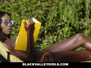 Preview 1 of BlackValleyGirls- Flawless Ebony Babe Boned by Obsessed Pool Boy