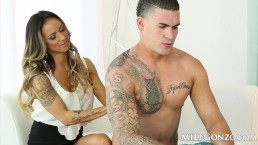 MILFGonzo Nadia Styles likes her men young and hung