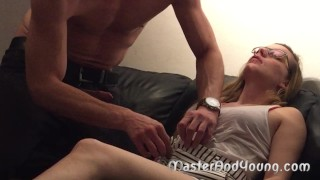 Preview 5 of Submissive young sister slut has hard fuck with her dominant older brother!