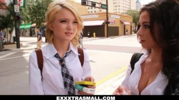 ExxxtraSmall- Tiny Teens Dakota Skye & Friend Skip School And Fuck Big Cock
