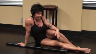 Preview 1 of Fitness Redhead Chick Tramples FBB Martial Artist Expert