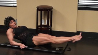 Preview 3 of Fitness Redhead Chick Tramples FBB Martial Artist Expert