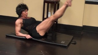 Preview 5 of Fitness Redhead Chick Tramples FBB Martial Artist Expert