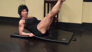 Preview 6 of Fitness Redhead Chick Tramples FBB Martial Artist Expert