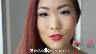 Exotic4k Asian exotic Lea Hart fuck and facial by big dick