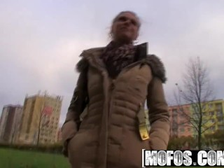 Preview 5 of Mofos - Public Pick Ups - Sexy Bus Blonde starring Adele