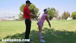 BANGBROS - Teen Karla Kush sucks dick and at plays golf, not in that order