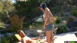 BrokenTeens - Tight teen with a pierced clit gets pounded by a big dick