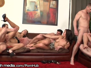 Preview 4 of MileHigh Double Penetration Swingers Party