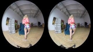 Preview 2 of Erotic compilation of gorgeous amateur girls teasing in VR