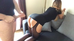 step brother take sister to the hotel room and cum on shes ass