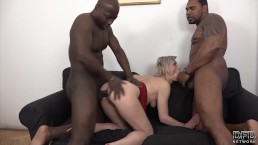 Mature Gets Black Cocks In Her Pussy And Mouth Likes Rough Anal